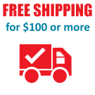 Free Shipping for $100 or more